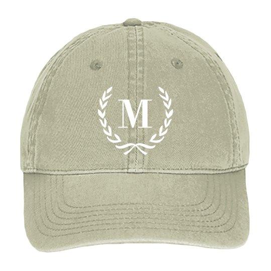 Custom Inital Baseball Cap