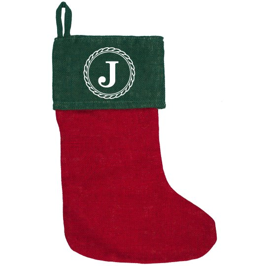 Custom Initial Holiday Stocking