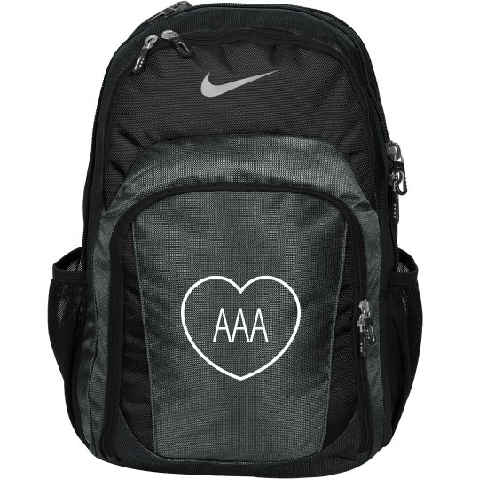 Custom Initials In Heart Monogrammed Backpack For Girls