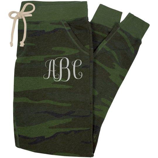 Custom Initials Jogger Pajamas