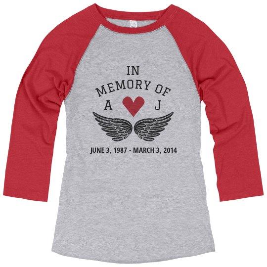 Custom Initials Memorial Heart Shirt