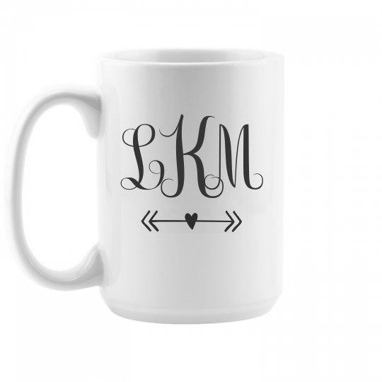 Custom Initials Monogram Mug