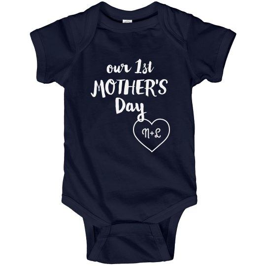 Custom Initials Mother's Day Bodysuit