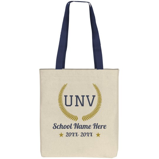 Custom Initials University Tote