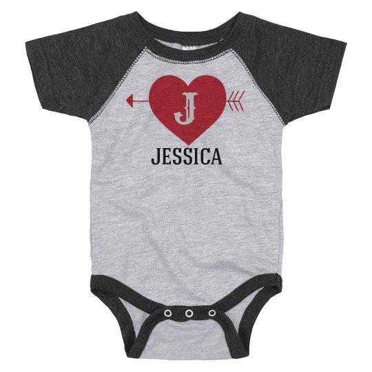 Custom Initials Valentine's Bodysuit