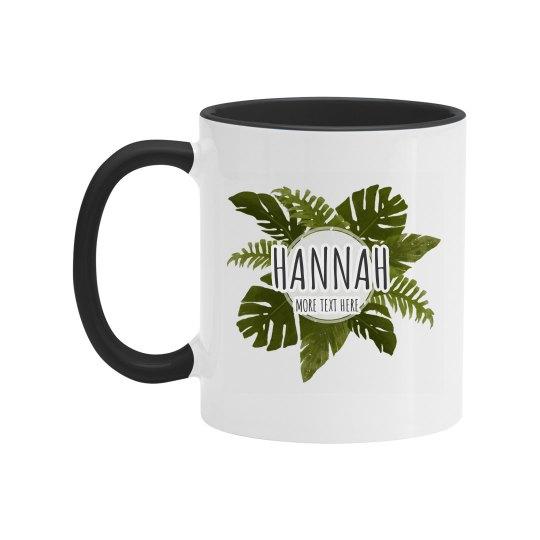 Custom Jungle Leaf Mug