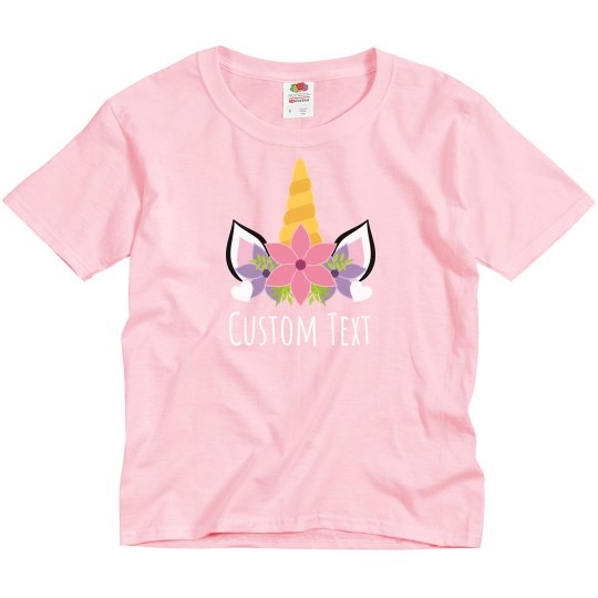 Custom Kid Unicorn Valentine Outfit