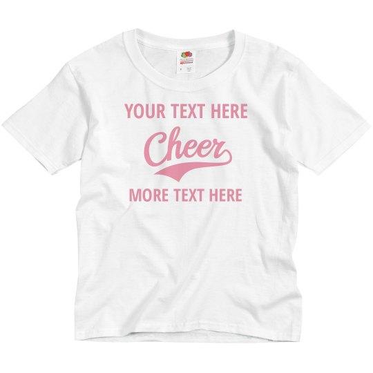 Custom Kids Cheerleader Shirts