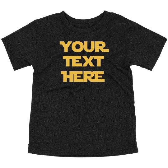 Custom Kids Jedi Text