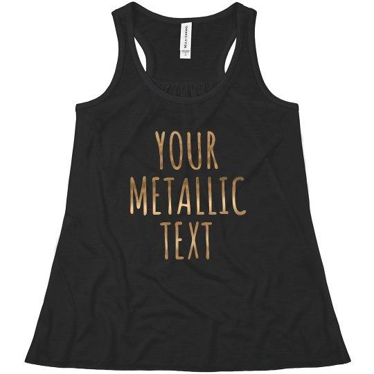 Custom Kids Metallic Fashion Tank