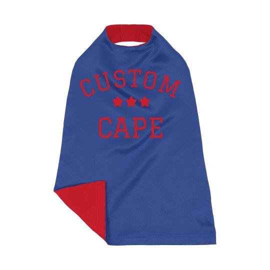 Custom Kids Metallic Text Cape