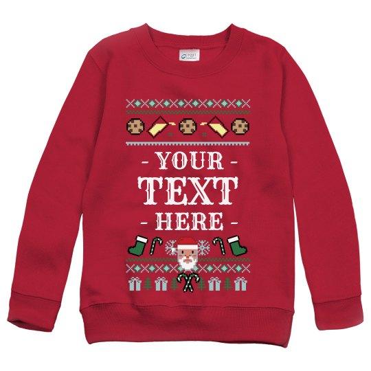 Custom Kids Santa Ugly Sweater