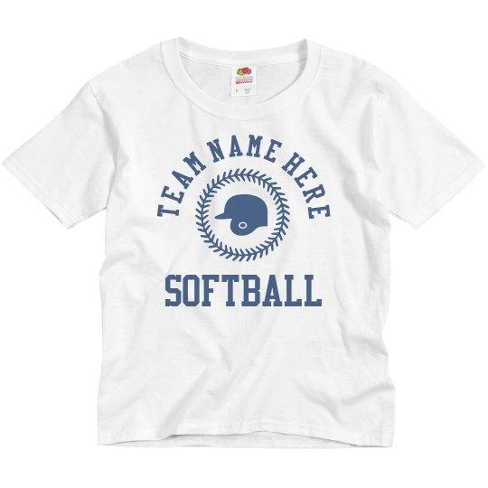 Custom Kids Softball Name/Number