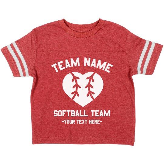 Custom Kids Softball Tee