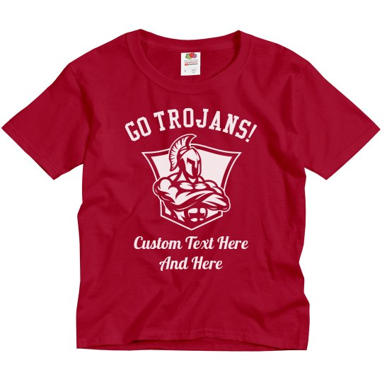 Custom Kids Trojans Football Shirts