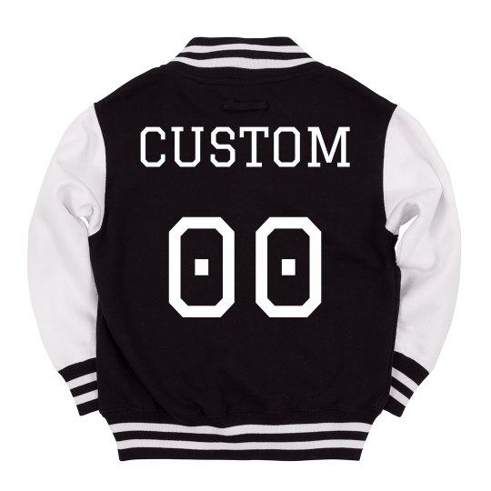 Custom Kids Varsity Jacket Name Number