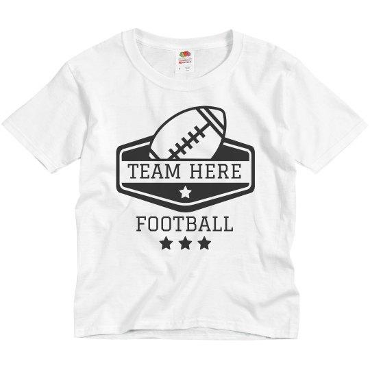 Custom Kids Youth Football Team Tees