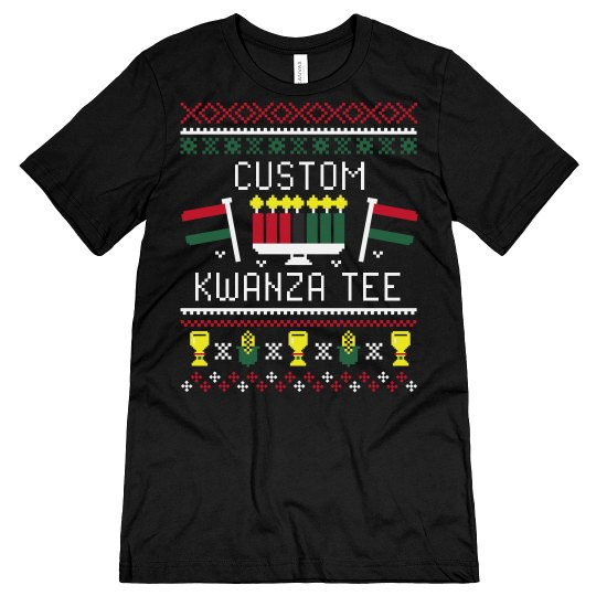 Custom Kwanzaa Ugly Sweater Tee