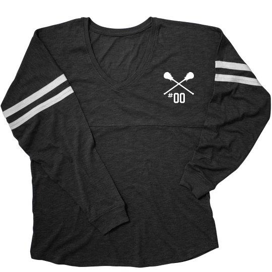 Custom Lacrosse Number Slub