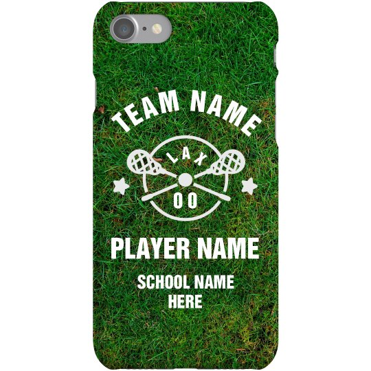 Custom Lacrosse Player Phone
