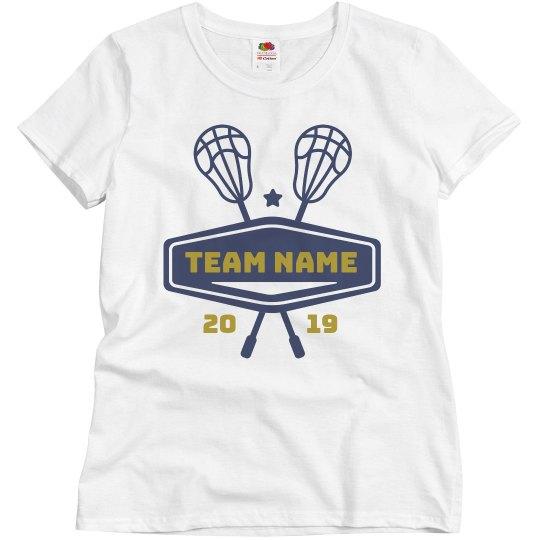 Custom Lacrosse Team & Year Tee