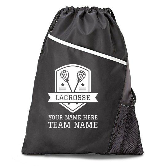 Custom Lacrosse Team Cinch Bag