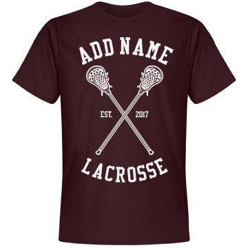 Custom Lacrosse t-shirt
