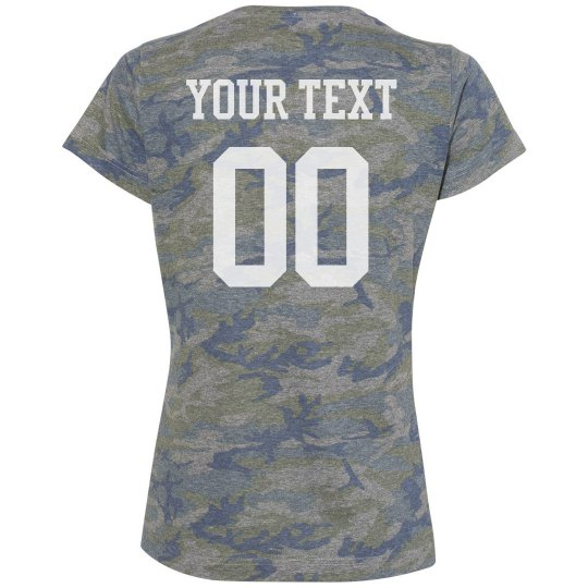 Custom Ladies Football Camo Tee