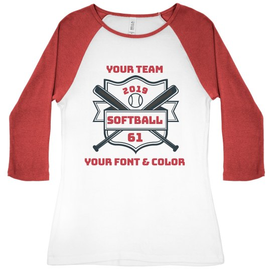Custom Ladies' Softball Jersey