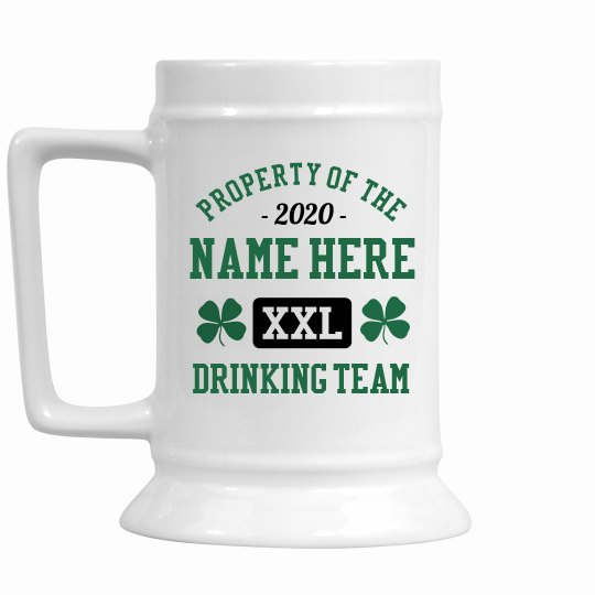 Custom Last Name Drinking Team