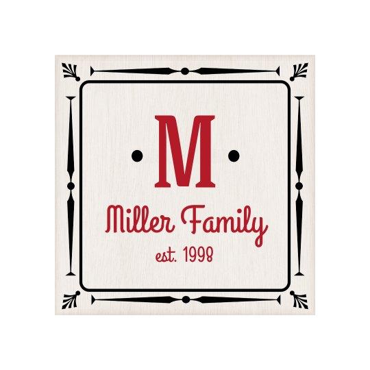 Custom Last Name Family Plaque