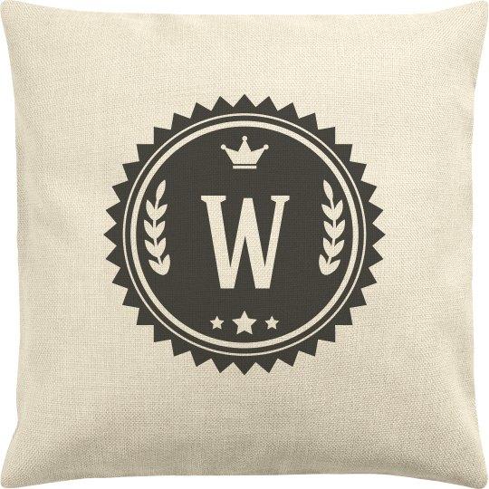 Custom Last Name Initial Pillow