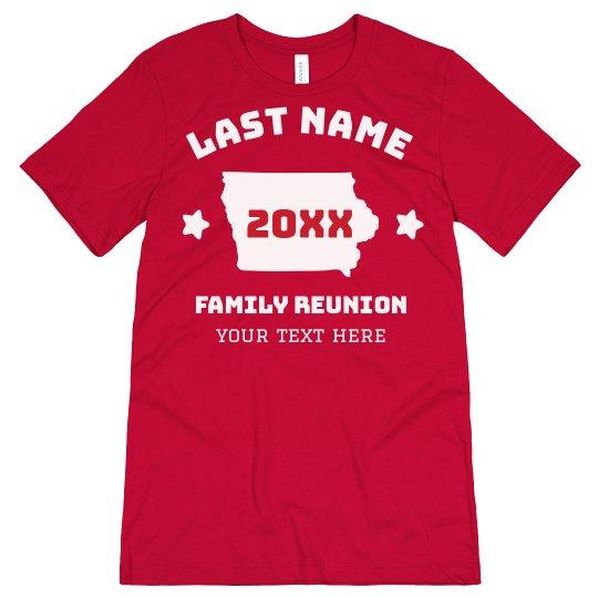 Custom Last Name State Family Reunion