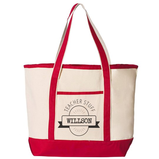 Custom Last Name Teacher Tote