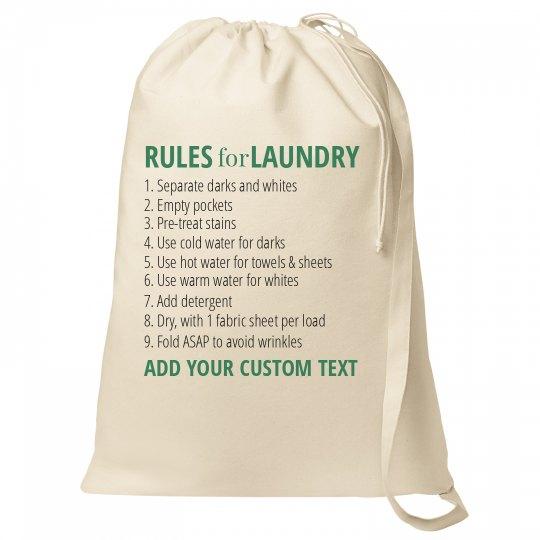 Custom Laundry Bag Instructions