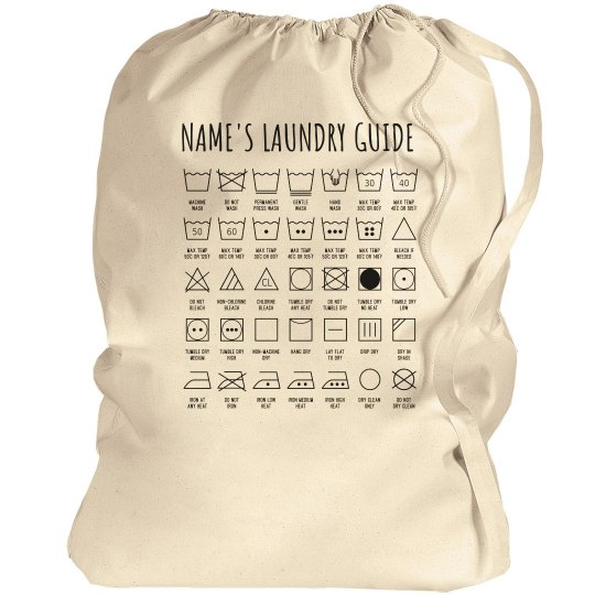 Custom Laundry Guide For College