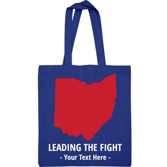 Custom Leading The Fight Ohio Tote