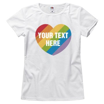 Custom LGBT Gay Pride Heart