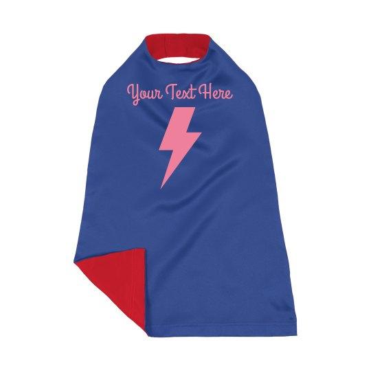 Custom Lightning Bolt Kids Dress Up