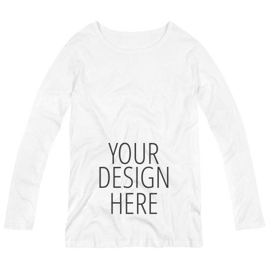 Custom Long Sleeve Maternity Shirt