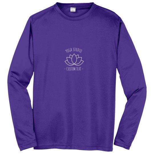 Custom Long Sleeve Yoga Studio Performance Shirts