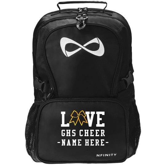 Custom Love Cheer Glitter Bow Nfinity Pack