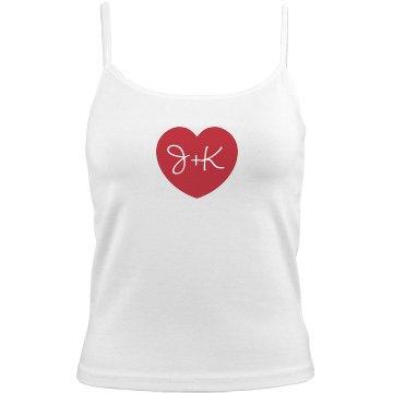 Custom Love Initials Valentine Gift