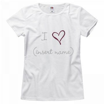 Custom Love Shirt