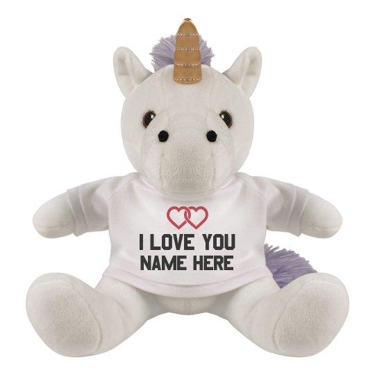 Custom Love You Unicorn