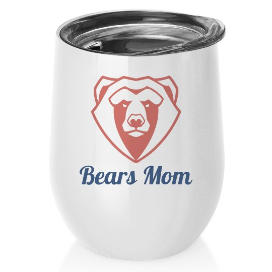 Custom Mascot Mom Wine Tumbler