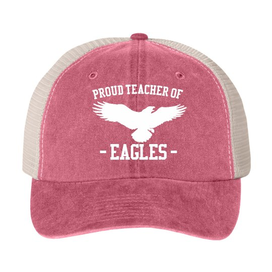 Custom Mascot Proud Teacher Hat