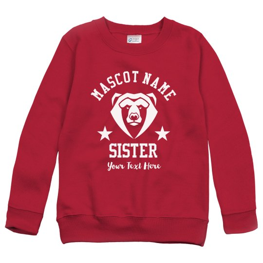 Custom Mascot Sister Star Sweatshirt