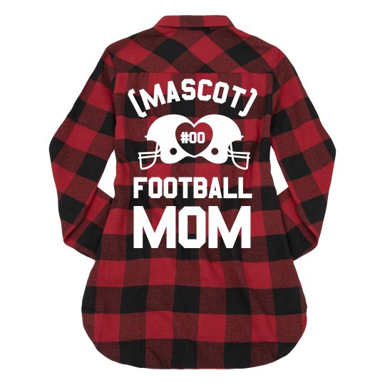 Custom Mascot Trendy Football Mom