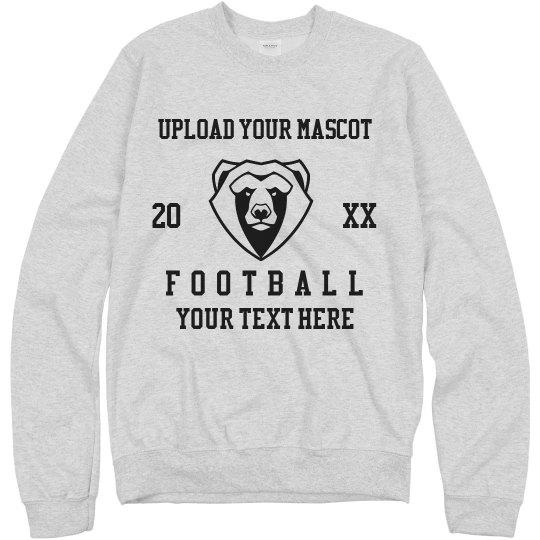 Custom Mascot Upload Football Sweater